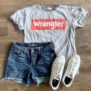 Wrangler Grey & Red Tee